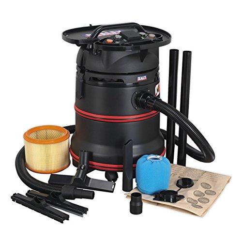 Stofzuiger industriële wet & dry 35ltr 1200W / 230V plastic trommel klasse m filtra