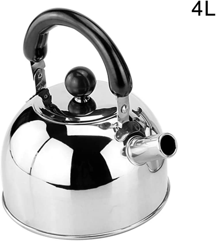 Buhui Whistling Tea Kettle With Handle Thickened Stainless Steel Flat-bottom Whistling Tea Kettle Stovetop Tea And Water Boilers For Home Dorm Condo