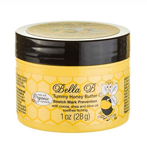 BELLA B NATURALS Tummy Honey Butter 1 oz - Tummy Butter For Stretch Marks - Pregnancy Cream To Prevent Stretch Marks - Stretch Marks Cream For Pregnancy - Bella B Bodycare - Bella B Tummy Honey Cream