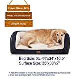 EMME Orthopedic Dog Beds 27/36/44/50 inches for Small, Medium and Large Dogs & Cats Removable Cover Dog Sofa Bed Ultra Plush Deluxe Dog Couch Pet Bed (Navy, X-Large)