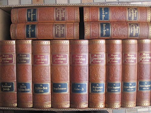Meyers Konversations-Lexikon in 17 Bänden, eine Nachschlagewerk des allgemeinen Wissens, 5. gänzlich neubearbeitete Auflage.