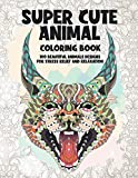 Super Cute Animal - Coloring Book - 100 Beautiful Animals Designs for Stress Relief and Relaxation
