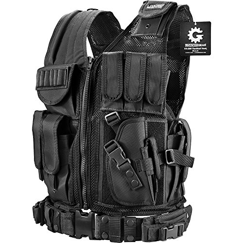 BARSKA mens Loaded Gear VX-200 Right Hand Tactical Vest, Black