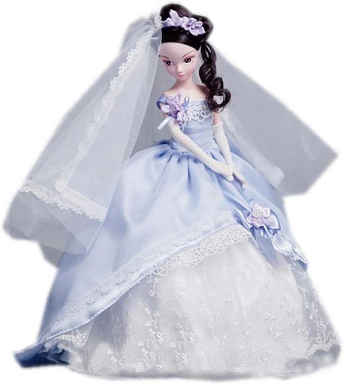 purplec Bride Doll for Girls White Skin Balljointed Doll Kids Toy