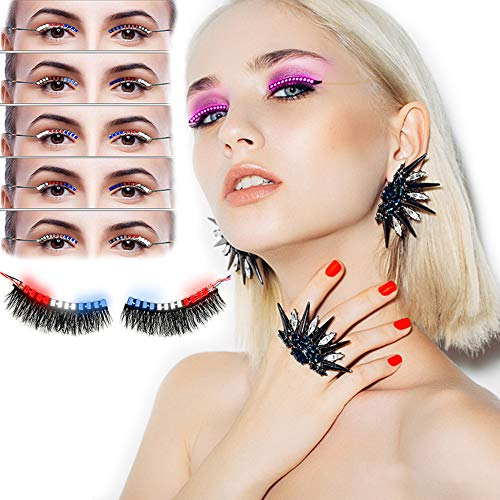 51XSqu3+OxL Sound Control LED Lashes (3 Colors 12 Flash Modes)