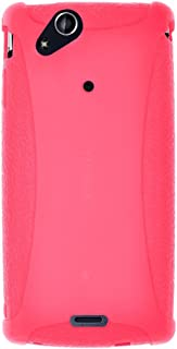 Amzer Silicone Skin Jelly Case for Sony Ericsson Xperia arc - 1 Pack - Baby Pink