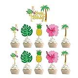 Jjwlkeji Vajilla De Fiesta Decoraciones de cumpleaños Hawaiian Set de Fiesta de Verano Set Vajilla Papel Taza Placa Napkins Set Tropical Party Favores (Color : 10pcs Wrappers)