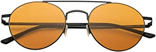 Sunglasses Kyme LEON C. 06 Shiny Black Solid Orange 49 NEW
