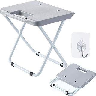 折りたたみチェア 折り畳み椅子 折り畳み式の腰掛け 風呂いす アウトドアチェア グレー 滑り止め お釣り 登山 花火大会 運動会 バーベキュー 防災グッズ 折り畳み椅子 折りたたみステップ台
