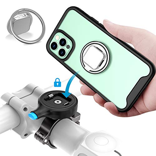 SOKUSIN Handyhalterung Fahrrad Entwurf für iPhone 12/12 Pro (6.1 Inches), Einstellbar Fahrradtelefonhalter aus Metall mit stoßfester Hülle, Full Screen freundliche Handyhalter Fahrradzubehör