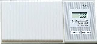 タニタ はかり スケール 携帯 日本製 100g 0.1g ホワイト 1476-WH ポケッタブルスケール
