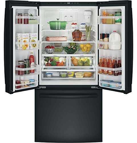 GE GNE25JGKBB French Door Refrigerator with 24.8 cu. ft. Total Capacity, in Black