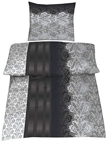 BaSaTex 4 Teilig Microfaser Bettwäsche Ruben 135x200 + 80x80