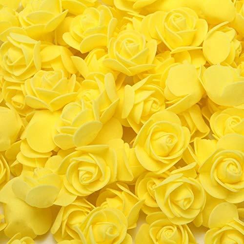 LIMMC 50/100/200 Piezas Oso de Peluche de Rosas 3cm Espuma Flores Decorativas de Boda Decoración navideña para el hogar Regalos de Bricolaje Flores Artificiales, 4,100 Piezas