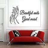 pegatinas de pared buhos Etiqueta engomada de la pared del salón de belleza del pedicuro de la manicura del polaco del salón del clavo