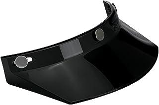 BiltwellMV-BLK-00-SD  Unisex-Adult 3 Snap Moto Visor (Black, Fits All)