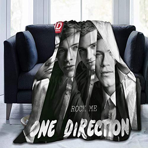 maichengxuan Manta de franela de coral suave de One Direction, manta de microfibra polar para sofá, cama, silla, oficina, mantas suaves, mantas de 152 x 122 cm