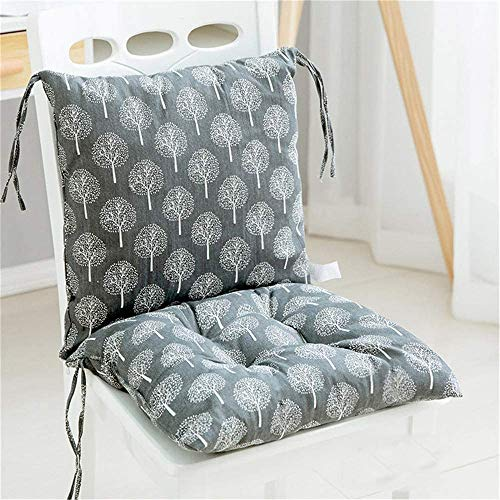 2 unidades de cojines para silla con respaldo, asiento de respaldo con cintas, respaldo bajo, cojín acolchado para silla de jardín 40 x 40 cm, cojín para silla de jardín