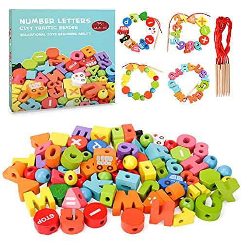 RIKONDA Juegos de Madera para pequeños, para niñas, niños,18 24 36 Meses, Juguetes de Aprendizaje Montessori para niños, niñas, niños, 2, 3, 4 Regalo de cumpleaños para niños, niñas, 2, 3, 4 años