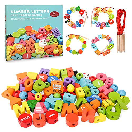 RIKONDA Juegos de Madera para pequeños, para niñas, niños,18 24 36 Meses, Juguetes de Aprendizaje Montessori para niños,...