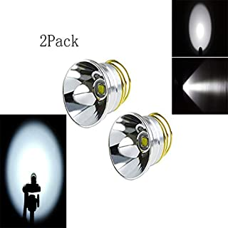 2 Pack Ultra Bright XM-L2 LED Bulb Single Mode 1200Lumens Drop-in P60 Design Module Flashlight Repair Replacement Bulb for Surefire Hugsby C2 G2 Z2 6P 9P G3 S3 D2 Ultrafire 501B 502B