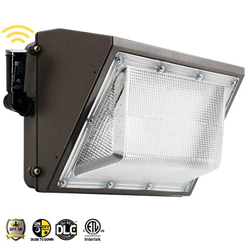 100W Led Wall Pack Light, Dusk to Dawn Photocell for 120-277V, Outdoor Lighting, 5000K, 11000Lumen, Ip65 Waterproof Security Area Lighting, 5 Years Warranty