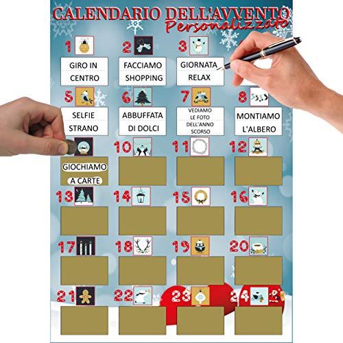 Calendario Avvento Gratta E Vinci - Calendario dell'Avvento da Personalizzare con Frasi...