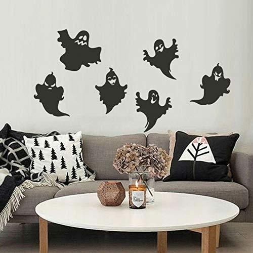 TYLOLMZ muursticker vinyl zwart warm pop afneembare geest kat zwart bat sticker decoratie huis