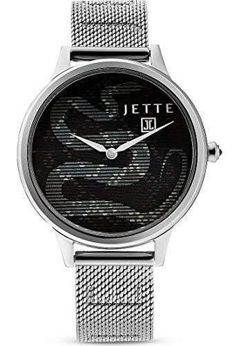 JETTE Time Damen-Uhren Analog Quarz One Size Silber Edelstahl 32013535