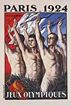 WONDERFULITEMS Olympic Games Paris 1924 Jeux OLYMPIQUES France French Vintage Poster Canvas REPRO