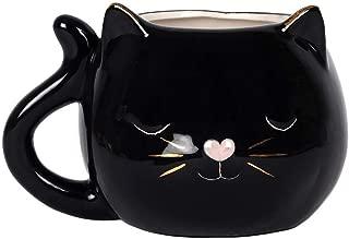 Mug - Ceramic Tea/Coffee - Black Cat Face Mug