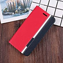 TROUNCE® Custom Series Denim Cloth & Faux Leather Flip Wallet Case Stand with Card Holder Magnetic Closure Jeans Flip Cove...