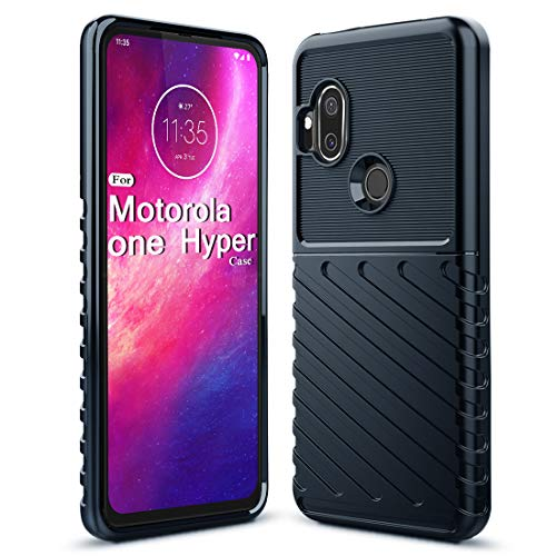 Sucnakp Moto One Hyper Case Shock Absorption Anti Scratch Heavy Duty Durable Drop Protection Cell Phone Cover for Motorola Moto One Hyper(LT Blue)