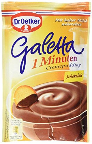 Dr. Oetker Galetta Cremepudding Schokolade, 9er Pack (9 x 99 g)
