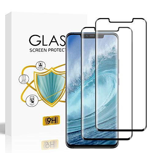 wsky [2 Stück] Panzerglas Schutzfolie für Huawei Mate 20 Pro, Hohe Qualität Gehärtetem Glass, [Full Coverage] [HD Clear] [Blasenfrei] [Anti-Fingerabdruck] Panzerglasfolie für Huawei Mate 20 Pro