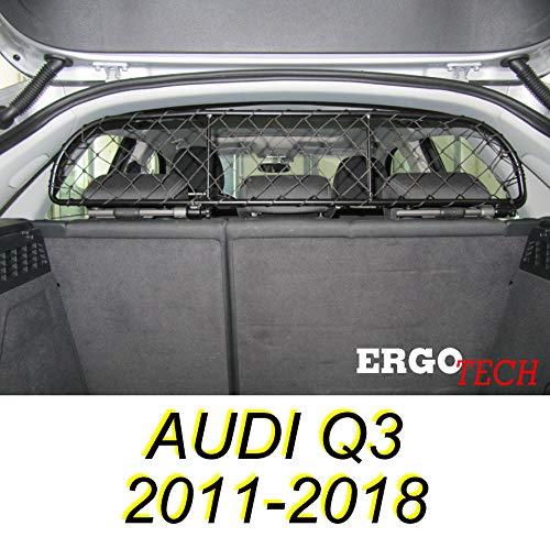 ERGOTECH Trennnetz Trenngitter Hundenetz Hundegitter für Audi Q3 BJ 2011-2018