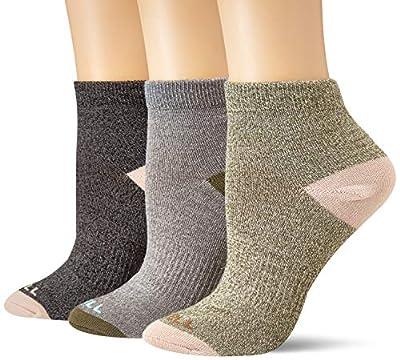 Merrell Women's 3 Pack Contrast Heel/Toe, Grey Marl Assorted, S/M