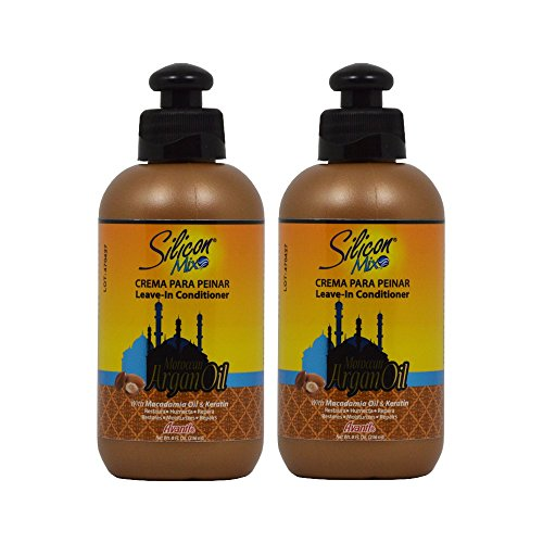 """Silicon Mix Moroccan Argan Oil Leave-In Conditioner 8oz""""Pack of 2"""""""