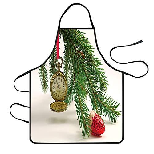 YSFWL Weihnachten Schürze Kittelschürze Weihnachtsschürze Kinderschürze Kochschürze Küchenschürze Verstellbar Latzschürze wasserdichte Twill Polyester 72 x 60cm FüR Kinder Frauen Männer