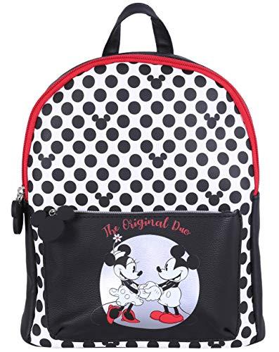 Schwarz-Weißer Polka-Dot-Rucksack Minnie Mouse DISNEY
