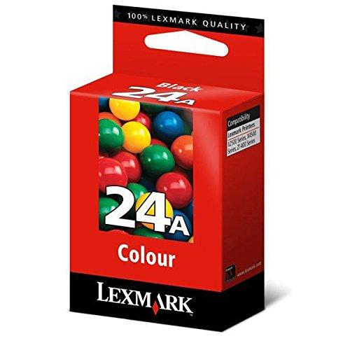 Lexmark No.24A Color Print Cartridge cartucho de tinta Cian, Magenta, Amarillo - Cartucho de tinta para impresoras (Original, Cian, Magenta, Amarillo, Lexmark, Lexmark X3550 Lexmark X4550 Lexmark X3530 Lexmark X4530 Lexmark X3430 Lexmark Z1420 Lexmark Z1410, Inyección de tinta, Rendimiento estándar)