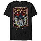 Star Wars Men's Old School Comic Graphic T-Shirt, Black, 4XL