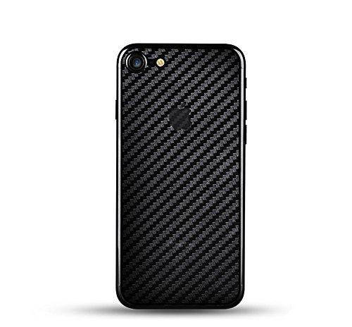qichenlu [Carbon Muster] 4 Stück Rückseite Folie kompatibel mit iPhone 8, Folie Hinten kompatibel mit iPhone 8,Klar Matt Klebefolie Kratzfest Hinten Schutz