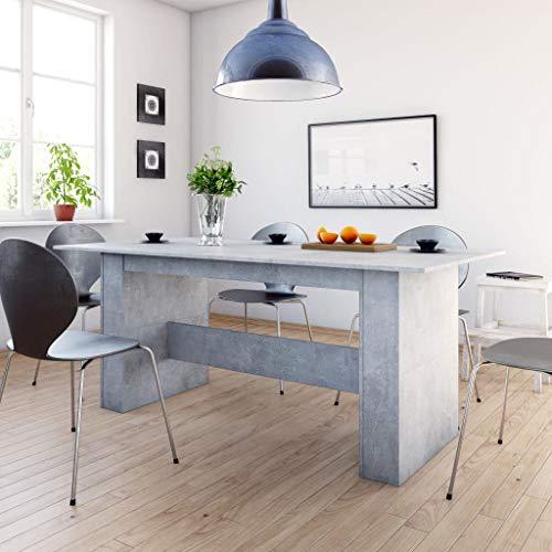 Lechnical Esstisch Küchentisch Konferenztisch Esszimmertisch Kaffeetisch Esstisch Modern Kaffee Tee Büro Betongrau 180×90×76 cm Spanplatte