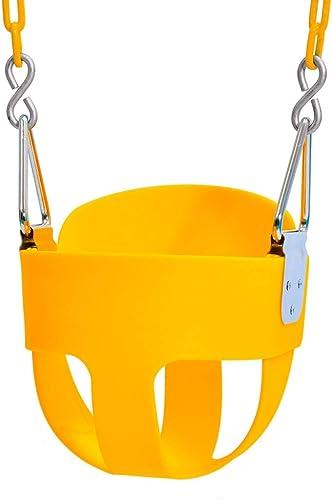 LHQ Safe Basket Schaukel Sitzgarnitur, Abnehmbare Durable Kinderschaukel Outdoor Indoor, 4 Farben (Farbe   Gelb)