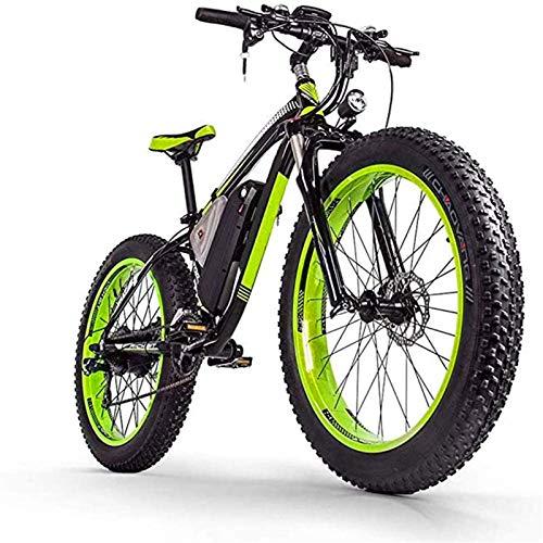 Bicicleta eléctrica de nieve, Adulto bicicleta eléctrica / 1000W48V17.5AH batería de litio de 26 pulgadas Fat Tire MTB, masculino y femenino Fuera de carretera bicicleta de montaña, 27 velocidad de ni