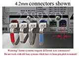 6 Home Theater Speaker Wires/Cables/Cords for Select Sony Samsung Pioneer Toshiba etc. 6 PCs; Total 86ft; 4.2mm Connector (Plug); 18 AWG Wire;