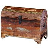 Baúl de almacenaje de madera maciza reciclada
