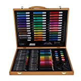 joyMerit 150 Piezas PVC Dibujo Pintura Arte Conjunto Cera Crayón Pincel de Pintura Niños Papelería Regalos