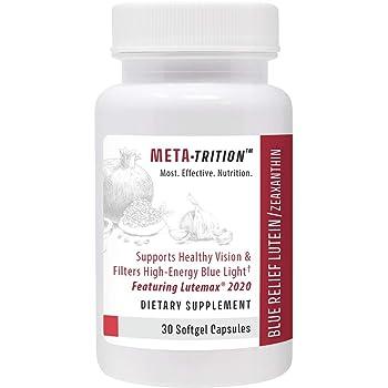 Metatrition Blue Relief Lutein/Zeaxanthin Nutritional Supplements, 30 Count